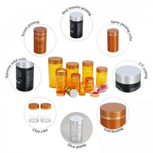 800ml gold lid PET plastic pharmaceutical packaging bottle