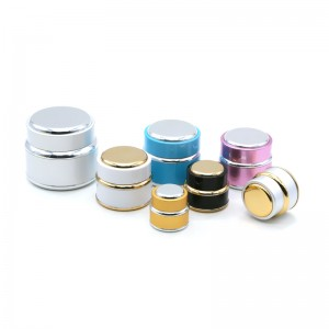 15g / 30g / 50g luxury metallic plastic cosmetic cream jar