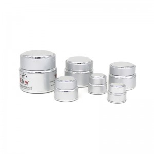 JA-5-1 series silver oxidation aluminum cosmetic jar
