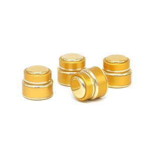 JA-5-1 gold aluminum shell glass cream jar