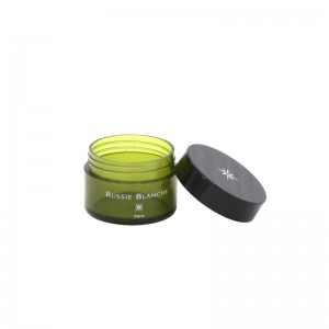 30ml PET plastic whitening cream jar