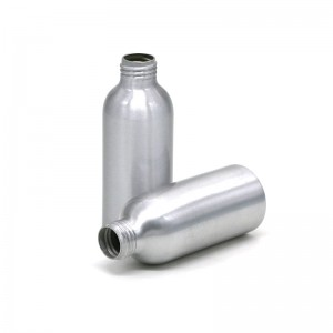 120ml silver aluminum cosmetic lotion bottle
