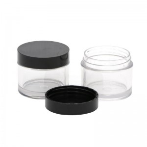 50g clear plastic cream jar