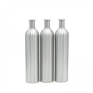 1000ML لمبا اور پتلا ایلومینیم شراب کی بوتل