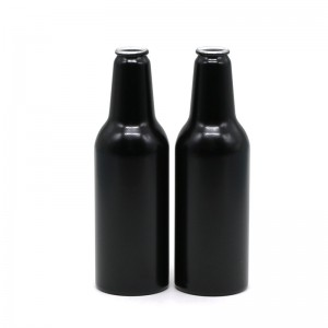 250ml black aluminum beer bottle
