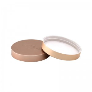 89mm gold aluminum plastic jar lid