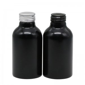 400ml black aluminum supplement drink bottle