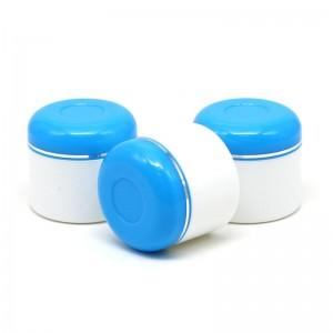50ml white double wall plastic cosmetic cream jar