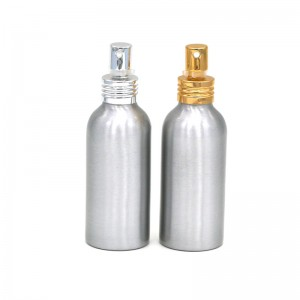 150ml empty cosmetic aluminum bottle with spray pump