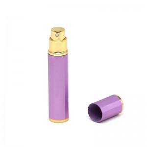 8 ml purple fancy aluminum perfume bottle