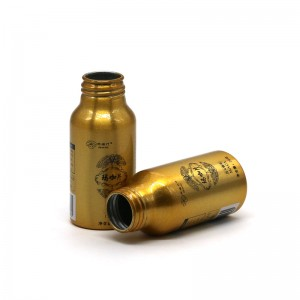 80 ml de aluminio ouro botella comprimido envasado