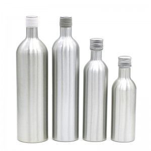 500ml custom aluminum liquor packaging bottle