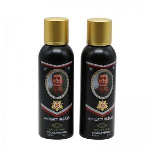 500ml venda quente de aluminio negro botella de viño espírito