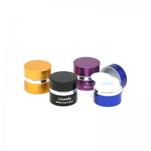 30g colorful aluminum shell glass gel jar