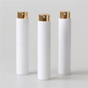 pocket size white and black parfume atomizer bottle matte surface