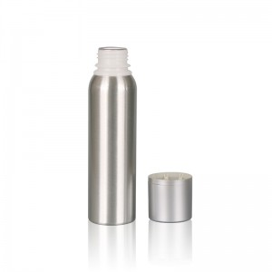 120ml environmental friendly aluminum bottles with matel cap