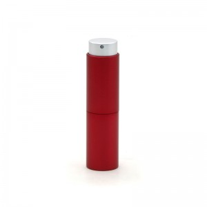 Red Color Refillable Aluminum Perfume Atomizers