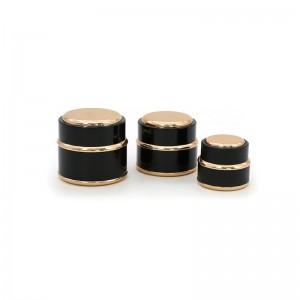 15G 30G 50G Black Color Plastic Cosmetic Cream Jar