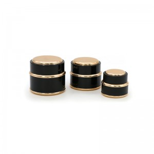 Hot Sale Black Plastic Cosmetic Cream Packing Jar