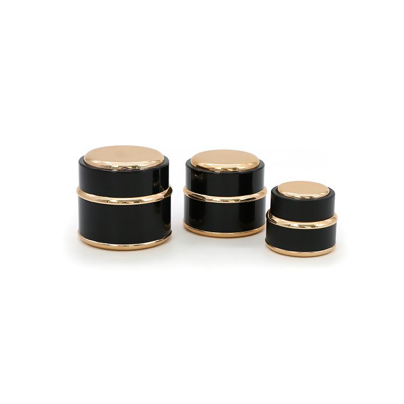 Hot Sale Black Plastic Cosmetic Cream Packing Jar Featured Image