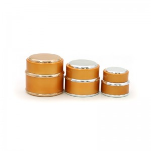 Luxury Golden Plastic Cream Packing Jar In Stock