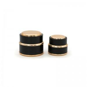Hot Sale Black Plastic Cosmetic Cream Packing Jar