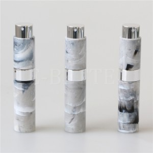 black mini 10ml refillable perfume spray bottle