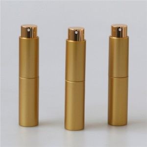 promotion pack 10ml gold plastic mini perfume atomizer spray bottle
