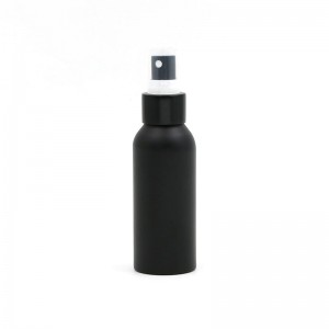 Black Color Aluminum Cosmetic Bottle With Spray