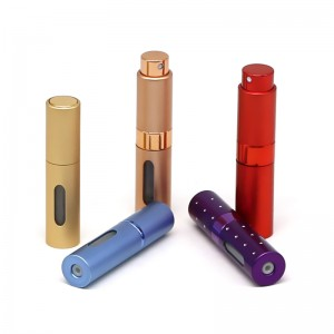 5ml aluminum twist up refillable perfume bottle atomizer