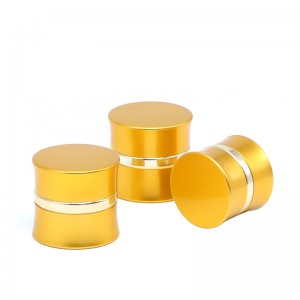 JA-3-3 series gold oxidated aluminum face cream jar