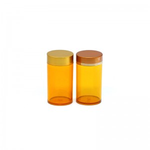 200ml PET plastic capsule packaging bottle