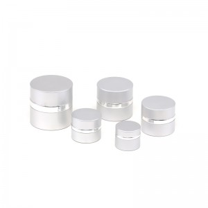 JA-3-6 series empty silver anodized aluminum cream jar
