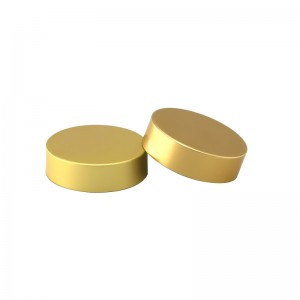 47mm gold aluminum glass jar lid