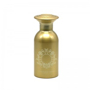 620ml gold aluminum body powder bottle
