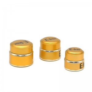 JA-4-2 series gold aluminum cover glass eye cream jar