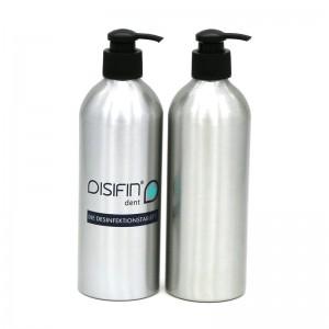 500ml aluminum shampoo pump bottle