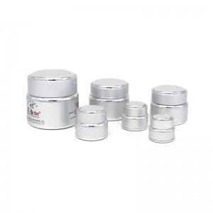 JA-5-1 series silver oxidation aluminum cosmetic jar