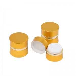 JA-3-3 series gold oxidated aluminum face cream jar