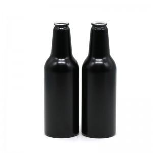 250ml black aluminum beer bottle