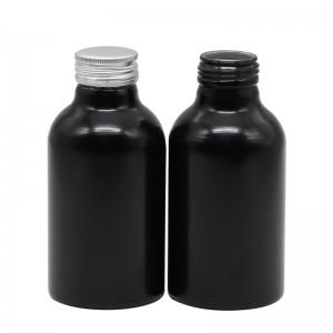 400ml black aluminum supplement drink bottle