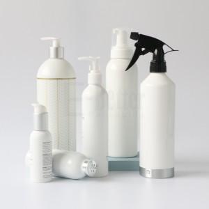 High Quality Black Aluminum Cosmetic Shampoo Lotion Spray Pump Bottle