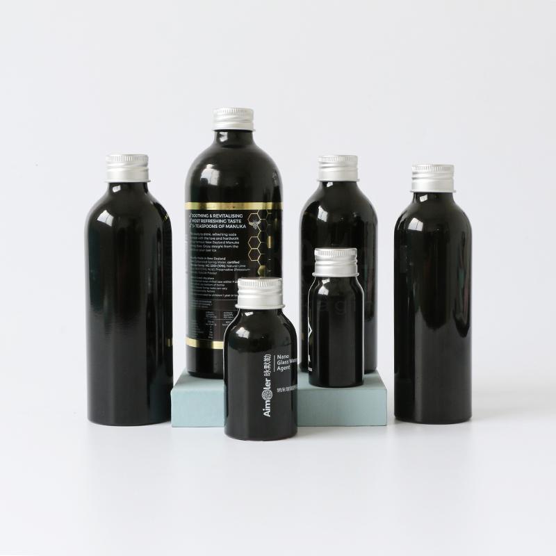 High quality aluminum shampoo bottles empty customized printing aluminum spray pump bottles Featured Image
