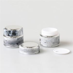 5g black color eye cream jar with gold lid luxury 50g sleep cream jars plastic cosmetic container