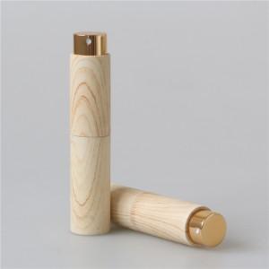 wood grain 8ml/10ml luxury twist perfume atomzier portable