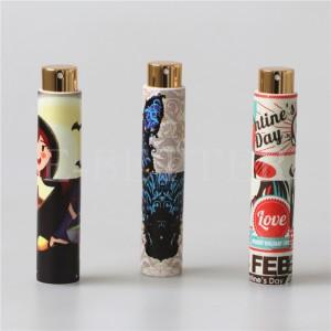 custom print design 10ml plastic perfume atomizer spray bottle
