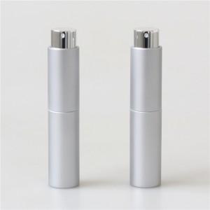 empty good quality twist up 10ml perfume atomizer silver