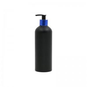 High quality aluminum shampoo bottles empty customized printing aluminum spray pump bottles