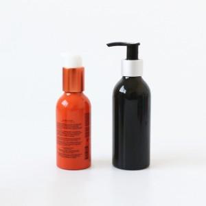 Stock 300ml 16oz Aluminum Cosmetic bottle Travel 500ml 1L aluminum cosmetic bottle with spray pump for hotel use