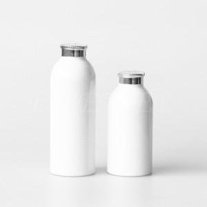OEM custom logo cheap price empty 500ml 750ml 1000ml aluminum bottle man style round metal bottle for shampoo